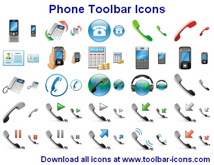 Phone Toolbar Icons Screenshot 1