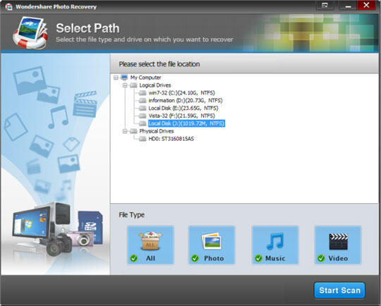 AdreamSoft Photo Recovery Screenshot