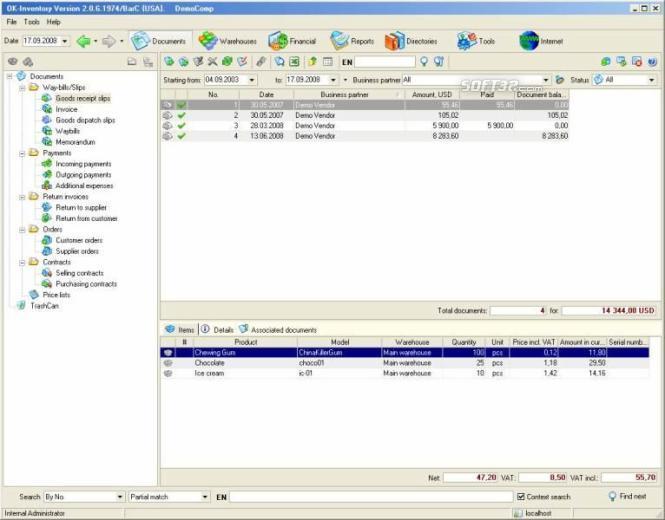 Business management software Screenshot 3