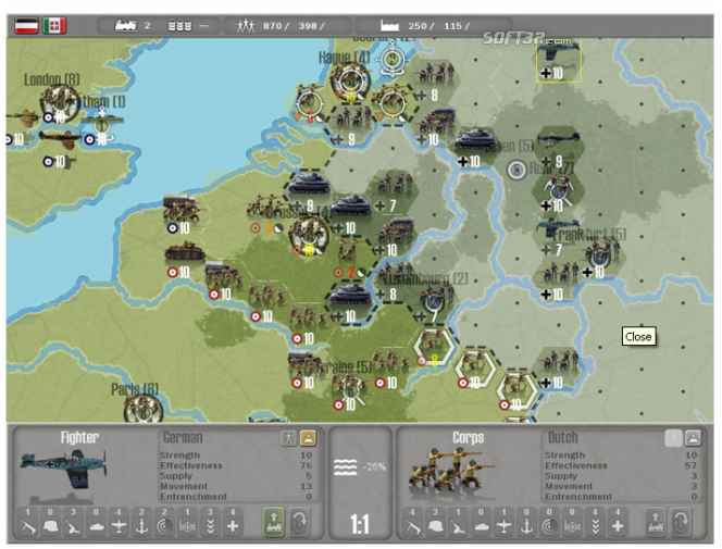 Commander Europe at War Screenshot