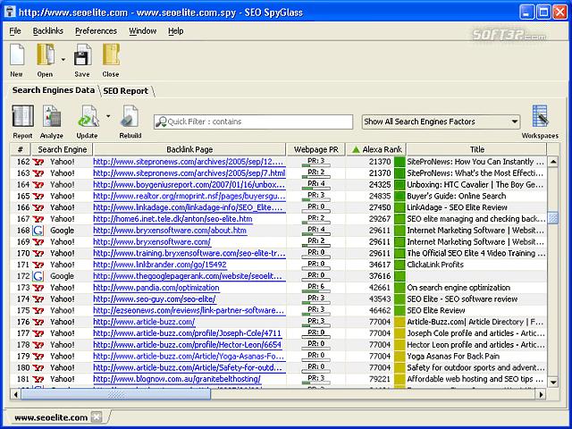 SEO SpyGlass Screenshot 3