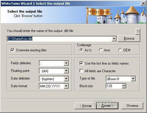 CSV to DBF Screenshot 3