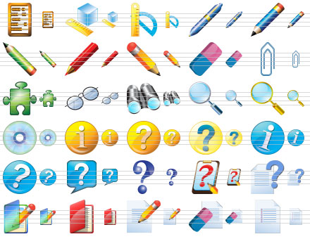 Large Education Icons Screenshot