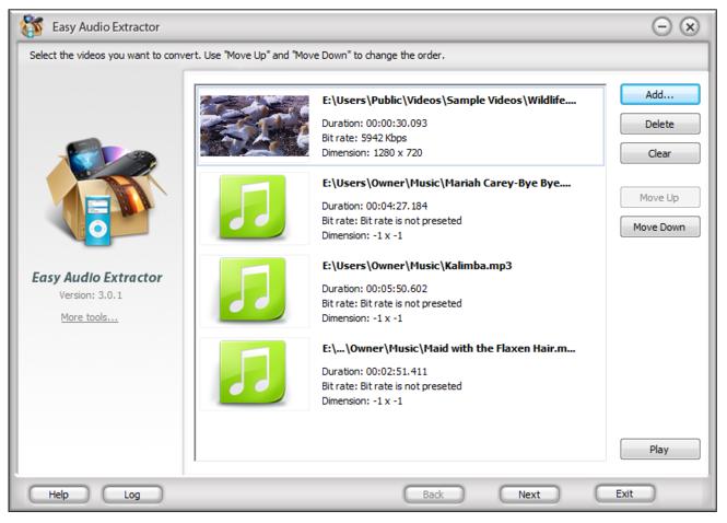 Easy Audio Extractor Screenshot 1
