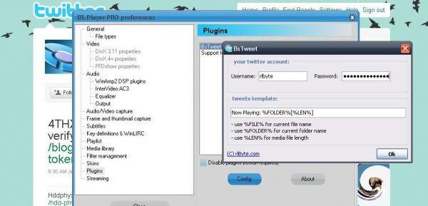BsTweet Plugin Screenshot