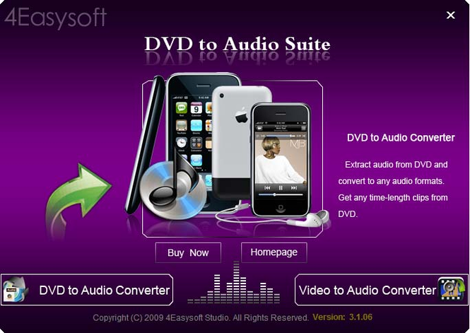 4Easysoft DVD to Audio Suite Screenshot