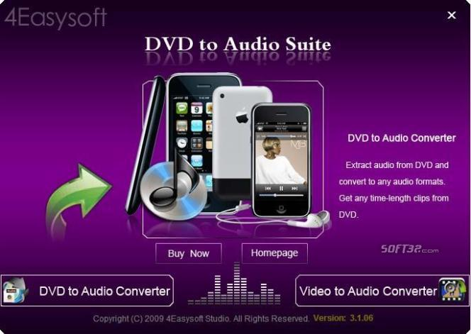 4Easysoft DVD to Audio Suite Screenshot 2