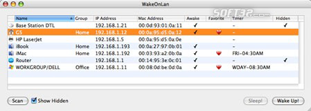 WakeOnLan Screenshot 1