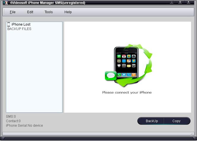 4Videosoft iPhone Manager SMS Screenshot 1