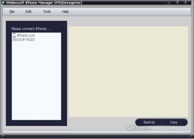 4Videosoft iPhone Manager SMS Screenshot 2