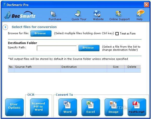 Docsmartz PDF To Word Converter Screenshot