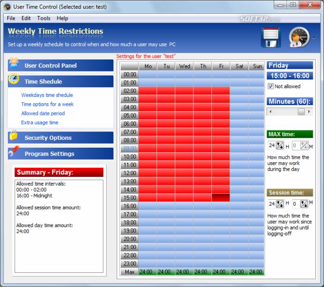 PC TIME LIMIT PRO Screenshot 2