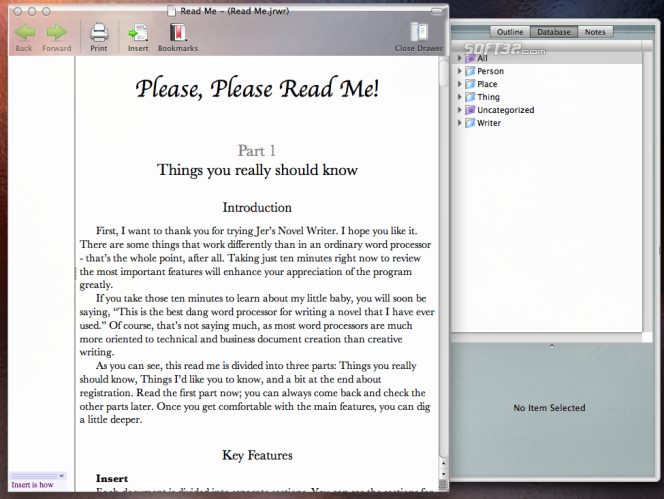 Jer's Novel Writer Screenshot 1