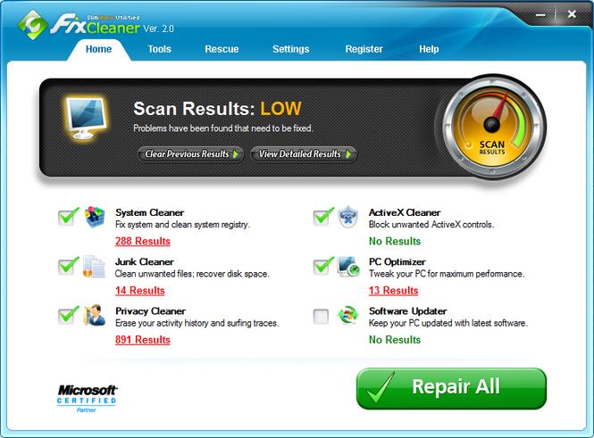 FixCleaner Screenshot