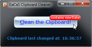 GaCaS Clipboard Cleaner Screenshot