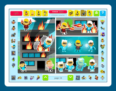 Sticker Activity Pages 6: Superheroes Screenshot