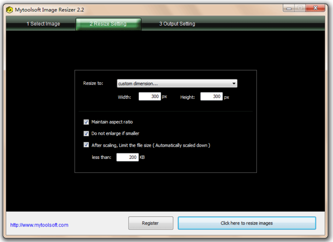 Mytoolsoft Image Resizer Screenshot