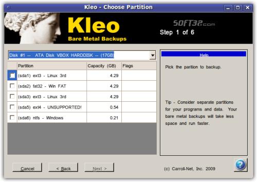 Kleo Bare Metal Backups for Servers Screenshot 3