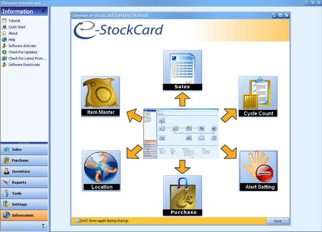 Chronos eStockCard Business Free Edition Screenshot 1