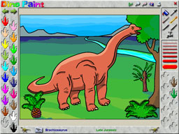DinoPaint Coloring Book Screenshot