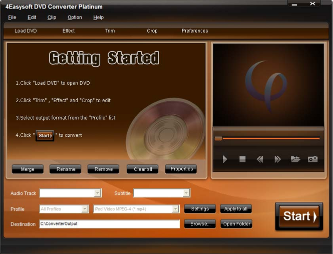 4Easysoft DVD Converter Platinum Screenshot 1