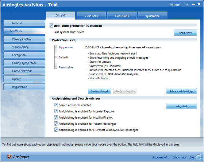 Auslogics Antivirus Screenshot 2