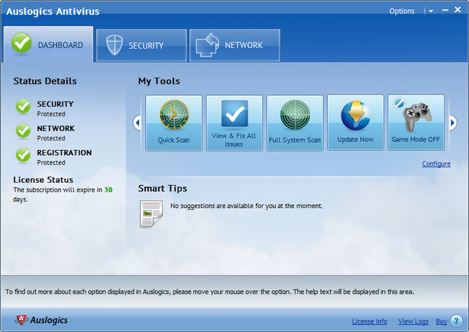 Auslogics Antivirus Screenshot