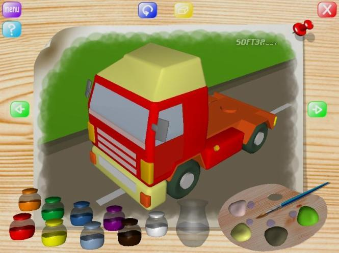 Vehicles Coloring Book Screenshot 3