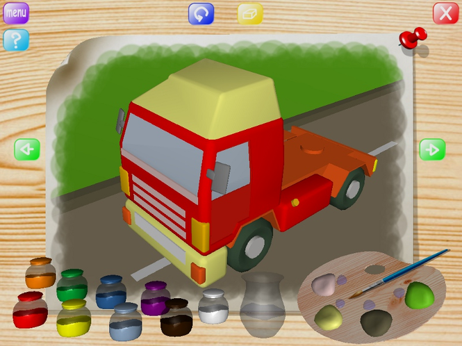 Vehicles Coloring Book Screenshot 1