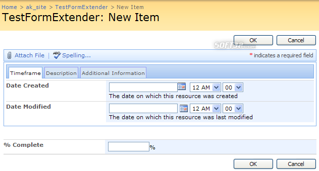 Virto Ajax SharePoint List Form Extender Screenshot 3