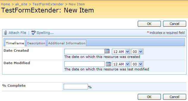 Virto Ajax SharePoint List Form Extender Screenshot 1