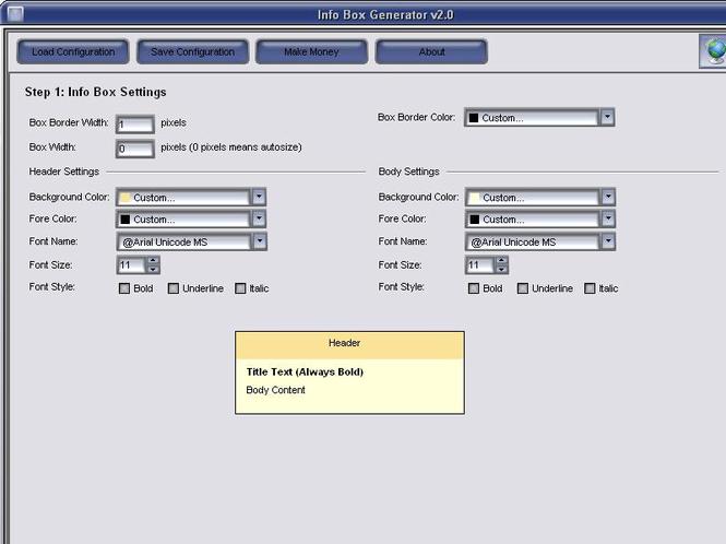 Info Box Generator Screenshot 1