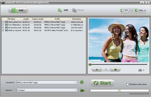 Aneesoft M2TS Converter Screenshot 3