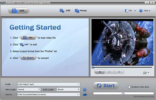 Aneesoft M2TS Converter Screenshot 1