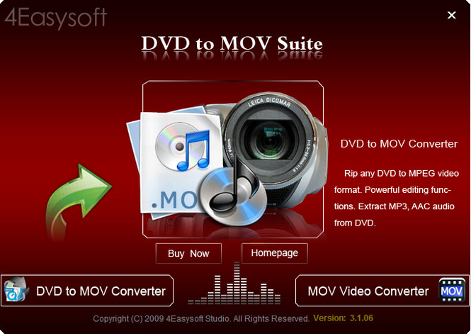 4Easysoft DVD to MOV Suite Screenshot