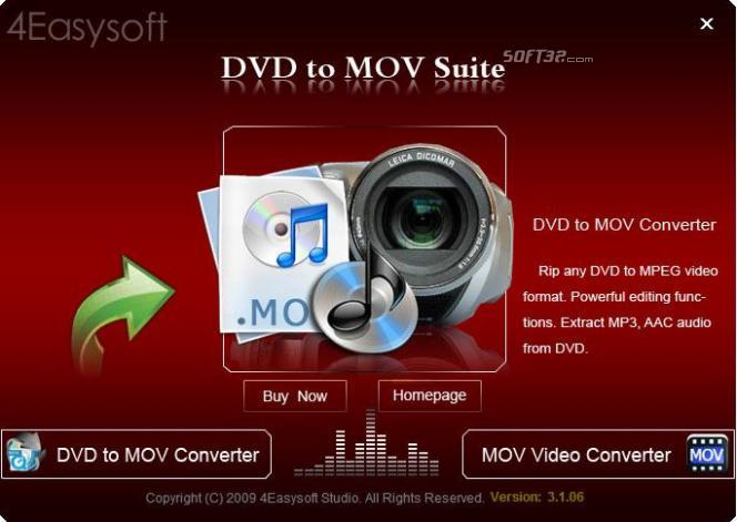 4Easysoft DVD to MOV Suite Screenshot 3