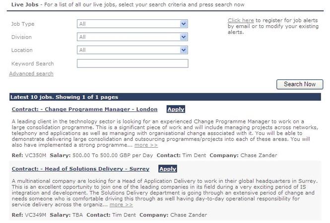 ChaseZander Jobs Screenshot