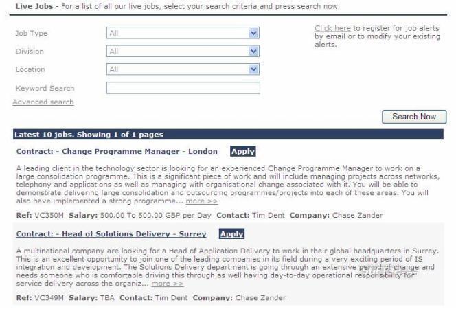 ChaseZander Jobs Screenshot 2
