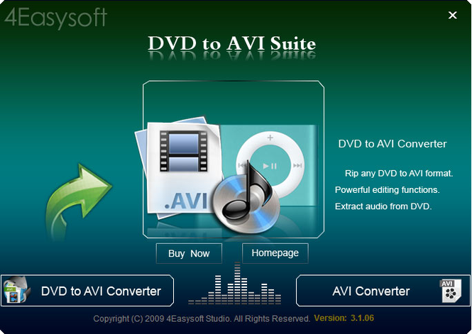 4Easysoft DVD to AVI Suite Screenshot 1