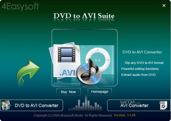 4Easysoft DVD to AVI Suite Screenshot 3