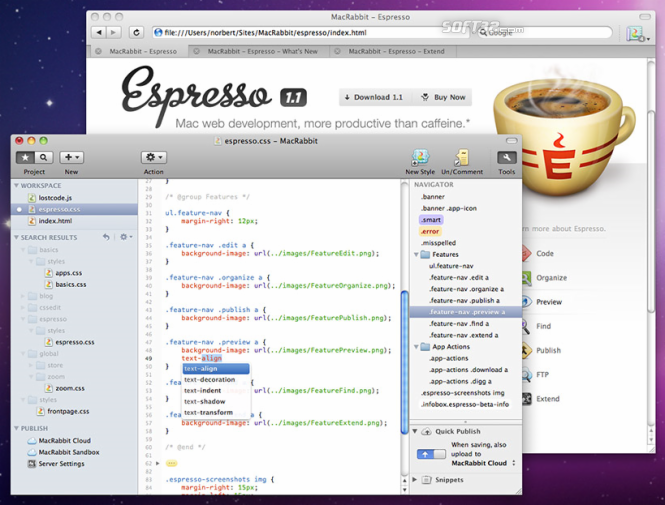MacRabbit Espresso Screenshot 3