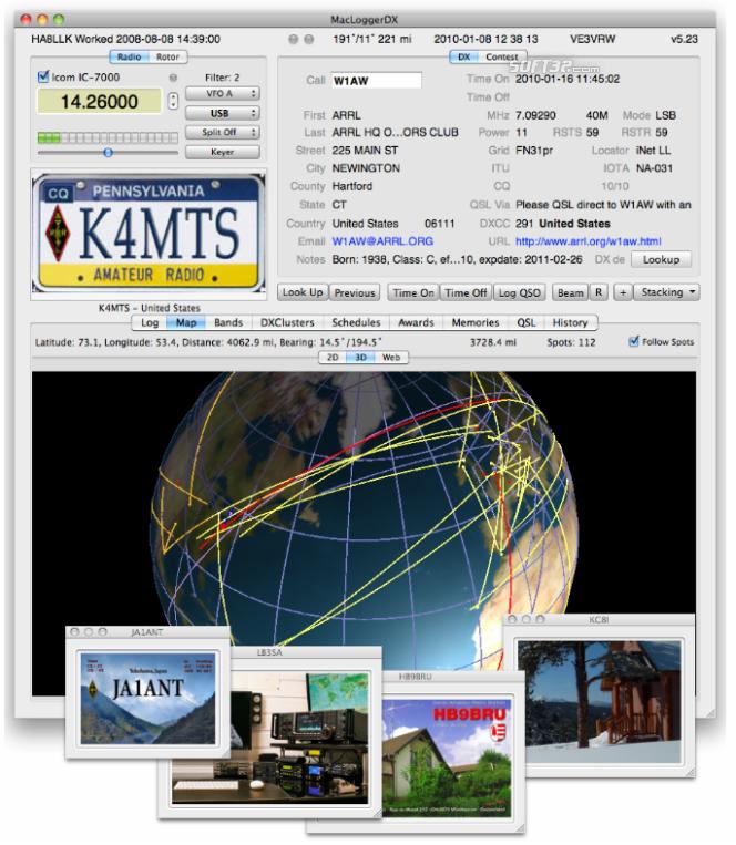 MacLoggerDX Screenshot
