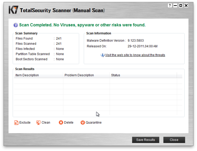 K7 TotalSecurity Screenshot 4