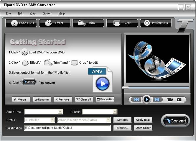 Tipard DVD to AMV Converter Screenshot 3