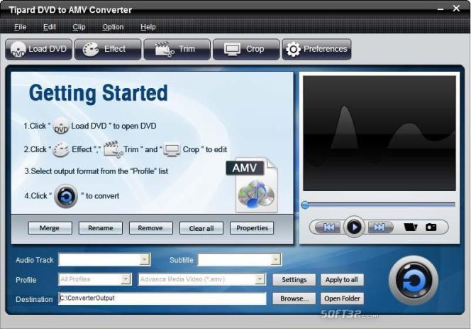 Tipard DVD to AMV Converter Screenshot 2