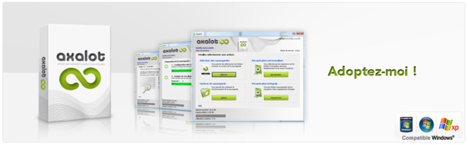 Axalot backup software Screenshot