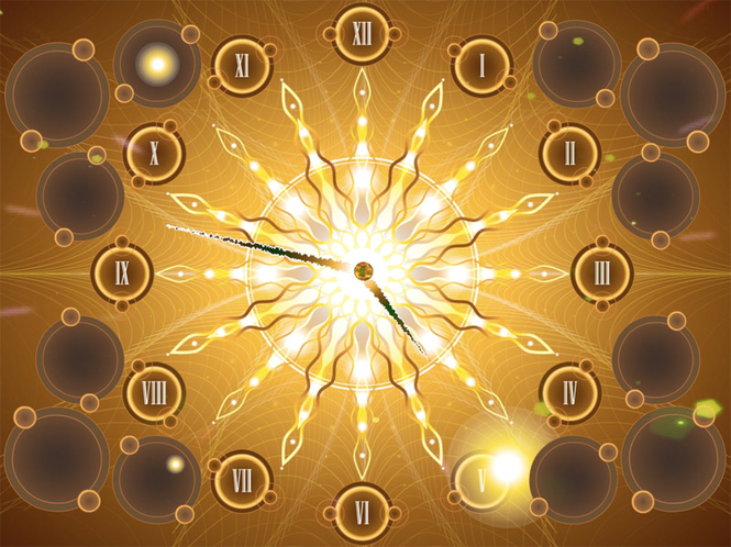 Fractal Sun Clock screensaver Screenshot 1