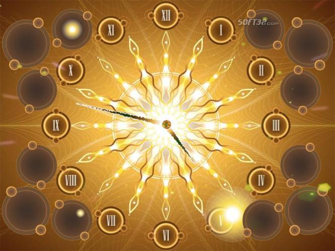 Fractal Sun Clock screensaver Screenshot 2