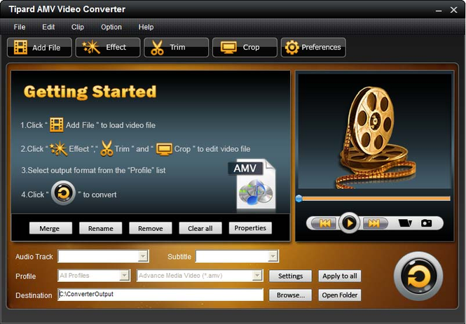 Tipard AMV Video Converter Screenshot 3