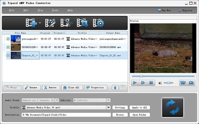 Tipard AMV Video Converter Screenshot 1